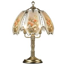 145 in Touch Lamp w Brushed Gold Base ** Click the VISIT button to enter the Amazon website