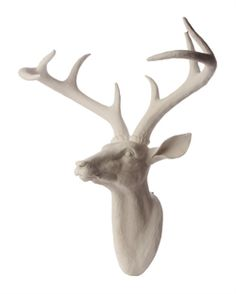 Noodle Resin Deer Head Wall Hanging - Matt Blatt