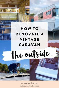 caravan renovation ideas 332210910016729016 - Our complete step by step guide explaining exactly how we renovated the outside of our vintage caravan, including the chassis, cladding and windows. Source by voyageandventure