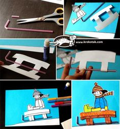 Winter collage with straws Christmas Crafts For Kids To Make, Mothers Day Crafts For Kids, Winter Activities For Kids, Art Activities, Painting For Kids, Art For Kids, Material Didático, Sport Craft, Winter Theme