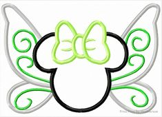 Perfect for those Tinkerbell Half Marathon runners! Embroider on a running hat or running socks! Fairy Miss Mouse Butterfly Tinkk Machine Applique Embroidery Design, Multiple sizes including 4 inch Embroidery Monogram, Applique Embroidery Designs, Machine Embroidery Applique, Disney Diy, Disney Crafts, Disney Trips, Mouse Tattoos, Disney Tattoos, Disney Designs