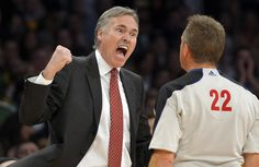 Mike D'Antoni  Los Angeles Lakers head coach Mike D'Antoni, left, yells at referee Bill Spooner during the first half of their NBA basketball game against the Los Angeles Clippers, Thursday, Feb. 14, 2013, in Los Angeles. (AP Photo/Mark J. Terrill)