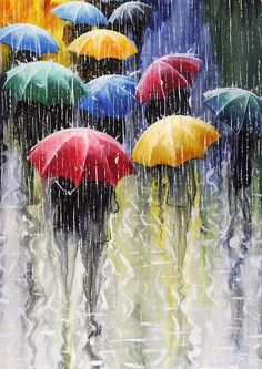 A Beautiful Diamond Rhinestone Mosaic Painting for your home decor or gift. 16 Designs to choose from.New Diamond Painting Kits arriving daily! Umbrella Painting, Rain Painting, Umbrella Art, Yellow Umbrella, City Painting, Painting People, Painting Abstract, Painting Canvas, Art And Illustration