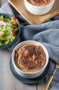 Souffle at home? Black pepper Gruyere souffle with breadcrumbs is quick, foolproof, and an impressive vegetarian entrée. Souffle Dish, Vegetarian Entrees, Bread Crumbs, Menu, Stuffed Peppers, Dishes, Easy, Holiday