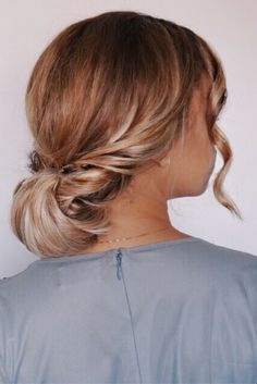 Chignon hairstyle, updo, holiday hairstyles, special event, prom, wedding, bridal hairstyles, simple, easy, blonde, ombre, @ashleyymari3