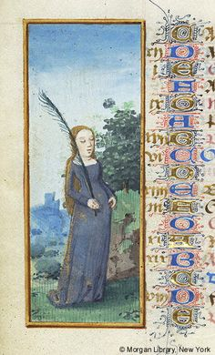 Book of Hours, France, Angers, between 1465 and 1470 Virgo Art, Zodiac Signs Virgo, Zodiac Art, Medieval, Traditional Artwork, Morgan Library, Book Of Hours, Old English, Illuminated Manuscript