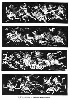 Halloween approaches and as a precursor it's a great pleasure to be able to post a selection of interior illustrations from Der Orchideengarten, courtesy of Will at A Journey Round My Skull. Der Or. Graphic Design Illustration, Illustration Art, Traditional Witchcraft, Halloween Ii, Wild Hunt, Comic Panels, Science Fiction Art, Fish Art, Memento Mori