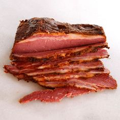 Homemade Pastrami - Simple Recipe for Curing and Cooking Your Own Pastrami adapted from The Artisan Jewish Deli at Home. Fantastic method. No smoker require. Arleigh