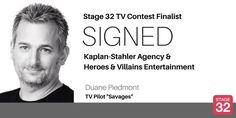 """BLOG: Success! TV Contest Finalist Signs with Kaplan-Stahler & Heroes & Villains Entertainment!  