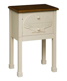 Look at this Embossed Scallop Shell Side Table on #zulily today!