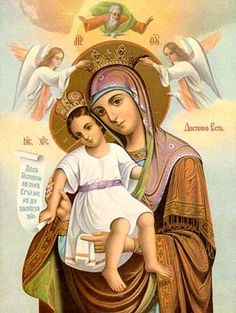 Beautiful icon ~ Mother Mary and the Christ Child
