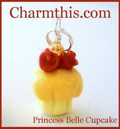 Polymer Clay Princess Belle Inspired by CharmthisClayCharms, $3.00