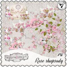 Rose rhapsody - Embellishments by Black Lady Designs