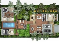 Australia's Leading floor plan or Rendered floor plan Specialist Contact Us Today for a quote on your marketing requirements. 3d Architectural Rendering, 3d Architectural Visualization, 3d Rendering, 3d House Plans, Small House Plans, Casa Patio, Rest House, Sims House, Modular Design