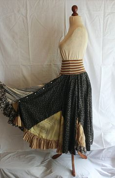 Recycled Skirt made from Men's Shirts Upcycled by cutrag on Etsy