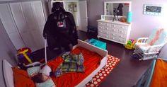 Este Darth Vader quiso darle un susto a su hijo, pero no resultó