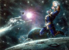 Thanos vs Silver Surfer | Pin Thanos Vs Silver Surfer Who Would Win