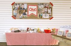 Fun and easy one year photo collage for baby's first birthday party.