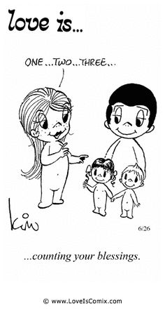 Love+Is+by+Kim+Casali+Comic+Archive+Gallery | Love Is... counting your blessings.