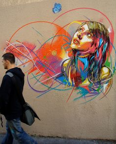 Graffiti by C215 in Marseille, France.