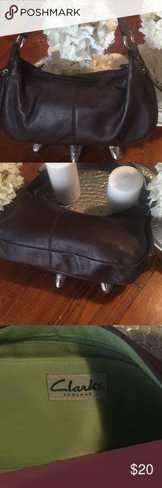 feb91f528fef3 Dark brown soft pebbled leather bag💥Clarks Soft leather