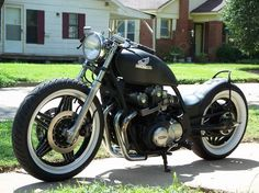 "HELL ON WHEELS: CB750 ""black bobber"""