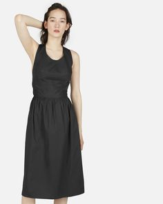 The Clean Cotton Cross-Back Dress - Everlane
