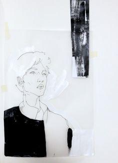 Fashion Sketchbook - fashion illustration, fashion collage drawing, fashion portfolio // Connie Blackaller