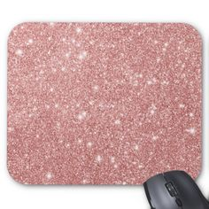 Shop Elegant Chic Luxury Faux Glitter Rose Gold Mouse Pad created by DesignByLang. Pink Gold Office, Pink And Gold, Rose Gold, Glitter Roses, Custom Mouse Pads, Elegant Chic, Color Combinations, Mousepad, Luxury