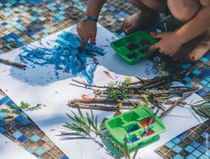 Pincei de Elementos Naturais   Natural Brush for painting activity
