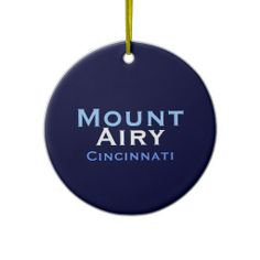 Mount Airy ornament - back