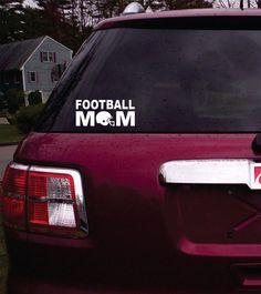 Football Mom decal sticker window car truck van SUV by DabbleDown ♥ Team Mom Football, Football Crafts, Football Girls, Football Stuff, High School Football, Football Season, Window Stickers, Bumper Stickers, Night High