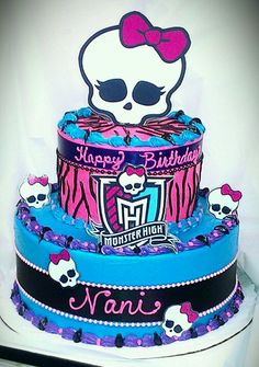 Monster High cake Tortas Monster High, Festa Monster High, Monster High Cakes, Monster High Party, Kylie Birthday, Birthday Fun, Birthday Ideas, Monster High Birthday Cake, Character Cakes