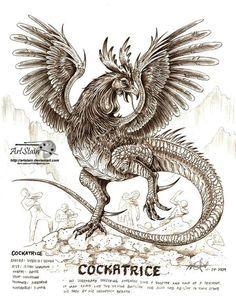 Cockatrice on Pinterest | Medieval, Dragon and Pliny The Elder