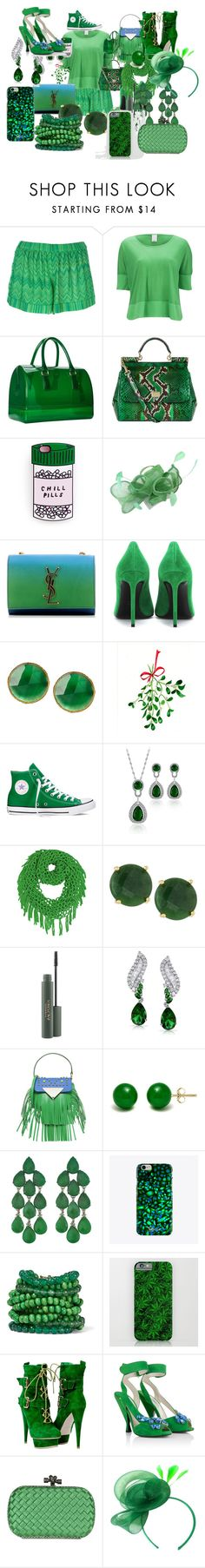"""A green chill pill"" by jordanbond55 ❤ liked on Polyvore featuring Missoni, Vero Moda, Furla, Dolce&Gabbana, Yves Saint Laurent, Converse, Panacea, Bling Jewelry, Sara Battaglia and Pori"