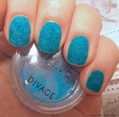 Вельвет для ногтей DIVAGE Velvet - «Синие и пушистые))) ФОТО-инструкция»   Отзывы покупателей