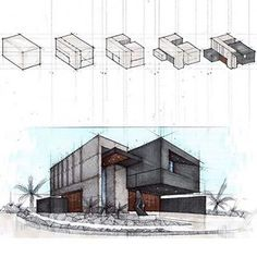 Architectural Sketches by ________________________________ . Use tag to… Interior Architecture Drawing, Architecture Drawing Sketchbooks, Architecture Portfolio Layout, Conceptual Architecture, Architecture Concept Drawings, Architecture Wallpaper, Minimalist Architecture, Architecture Design, Pavilion Architecture