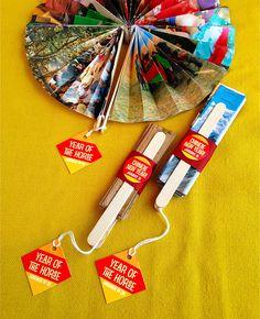 Handmade Paper Fans for Chinese New Year #yearofthehorse #diy #craft #gift #handmade