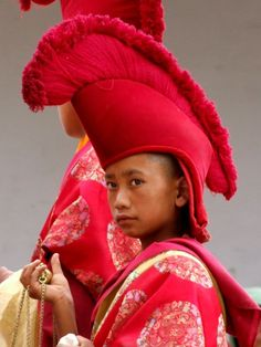 Buddhist yellow hat | Young Monk, Tibetan Monastery, Leh, Ladakh - must find out what The ...