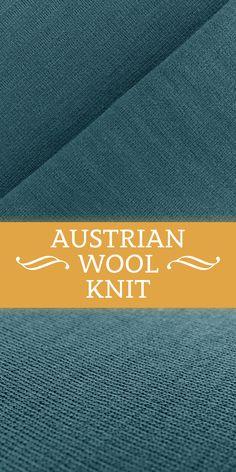 Austrian Virgin Wool Double Knit in Ocean Blue (Made in Austria - 100% Virgin Wool)