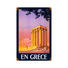 Vintage and Retro Wall Decor - JackandFriends.com - Retro Greece  Metal Sign 12 x 18 Inches, $39.97 (http://www.jackandfriends.com/retro-greece-metal-sign-12-x-18-inches/)