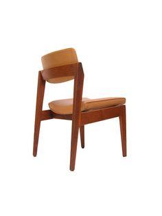 Gunlocke Danish Modern Stacking Side Chairs, tan — Local Pickup Only