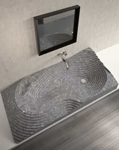 Purapietra #sink #bathroom #stone