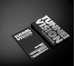 Creative business card for Tunnel Vision Records