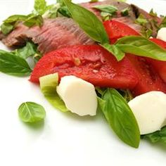 Caprese Salad With Grilled Flank Steak, photo by Nicolette