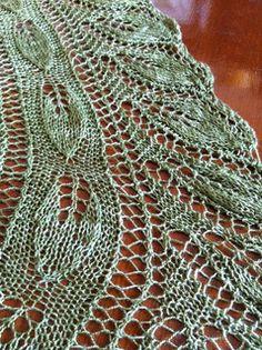 Acanthus Shawlette, knit in Zen Yarn Garden Pure Silk Lace