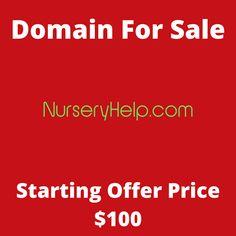 NurseryHelp.com domain name for sale! Visit it now to purchase it!  #nurseryhelp #nursery #help #babies #baby #domainforsale #domainname #domains #domainsale #domainnameforsale #website K Store, Budgeting, Names, Website, Live, Tent, Homemade Tea, Luxury Watches, Bonsai