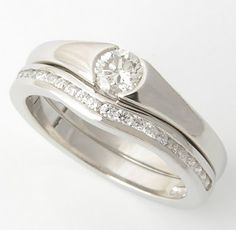 Engagement/ Wedding ring fit together