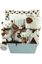 Posh Dots Blue - Baby Boy Basket