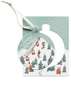 Purchase the Rifle Paper Co. Ornament Card Set, Holiday Snow Scene online with The Paper Parlour. Diy Holiday Cards, Holiday Ornaments, Holiday Crafts, Holiday Fun, Favorite Holiday, Christmas Holiday, Greeting Card Shops, Country Christmas Decorations, Christmas Illustration